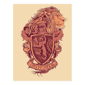 Carte Postale Crête de lion de Harry Potter   Gryffindor