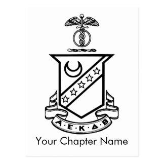 Carte Postale Crête de sigma de Kappa - noire et blanche