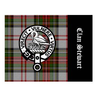 Carte Postale Crête et tartan de Stewart de clan