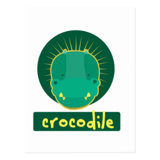 Carte Postale crocodile drôle