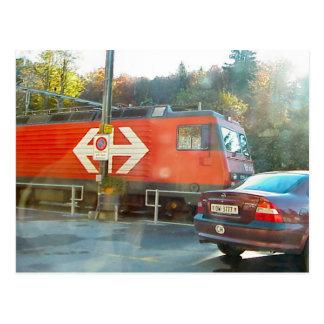 Carte Postale Croisement de rail de Hassliberg,