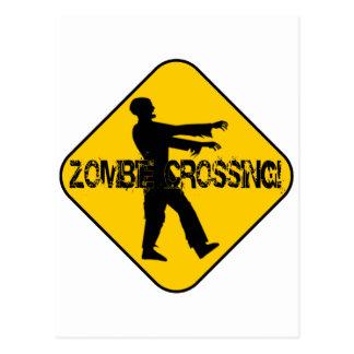 Carte Postale Croisement de zombi