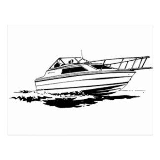 Carte Postale Croiseur de bateau de vitesse