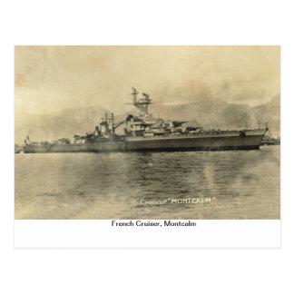 Carte Postale Croiseur français, Montcalm