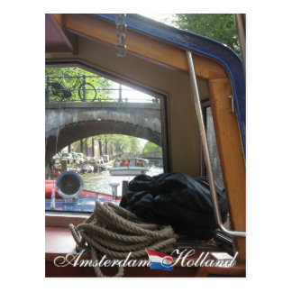 Carte Postale Croisière de canal d'Amsterdam