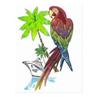 Carte Postale Croisière tropicale de perroquet