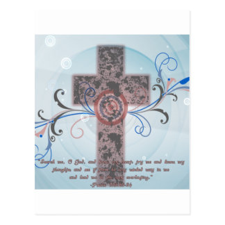 Carte Postale Croix avec l'écriture sainte