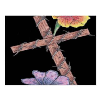 Carte Postale Croix de floraison