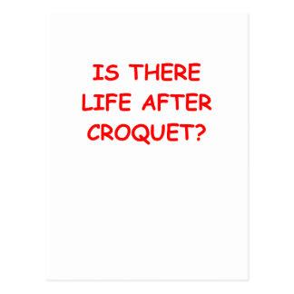 Carte Postale croquet
