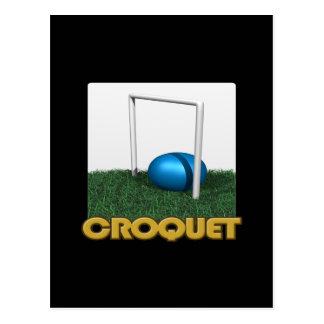 Carte Postale Croquet 4