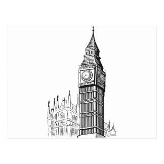 Carte Postale Croquis de Big Ben Londres