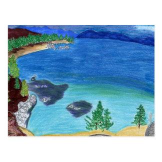 Carte Postale Croquis du lac Tahoe
