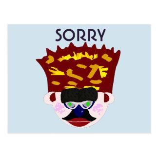 Carte Postale Crown Face de M. Rudy Man's désolé