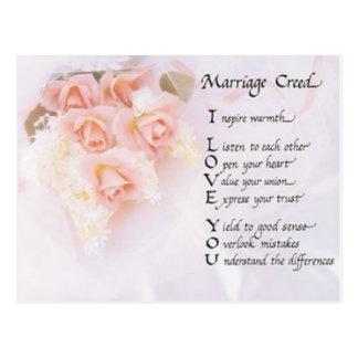 Carte Postale Croyance de mariage