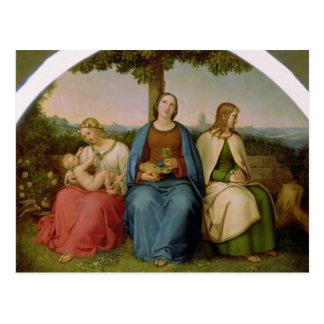Carte Postale Croyance, espoir et amour, 1819