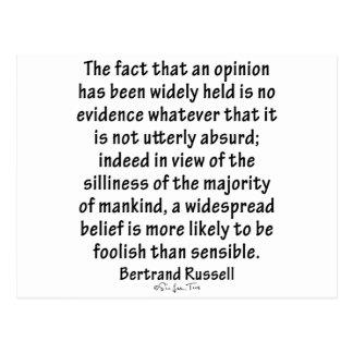 Carte Postale Croyances par Bertrand Russell