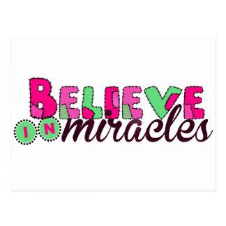Carte Postale Croyez aux miracles