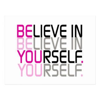 """Carte Postale """"Croyez en vous-même"""" la citation"""