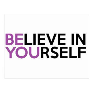 Carte Postale Croyez en vous-même - soyez vous