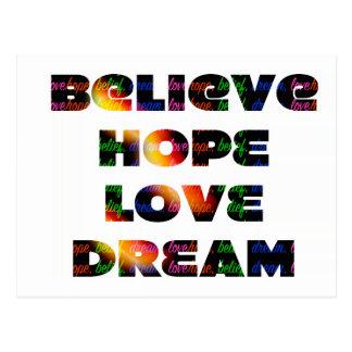 "Carte Postale ""Croyez, espérez, rêvez, aimez """
