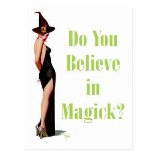 Carte Postale Croyez-vous au Magick ?