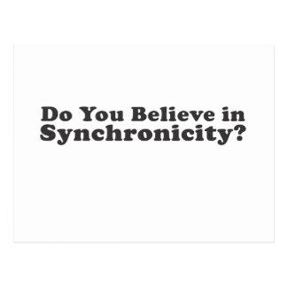 Carte Postale Croyez-vous au Synchronicity ?