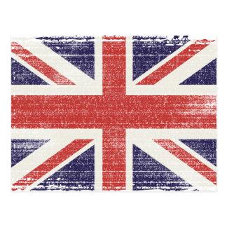 Carte Postale Cru de drapeau de la Grande-Bretagne