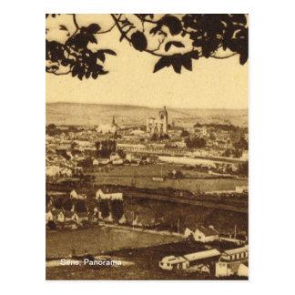 Carte Postale Cru de reproduction, Sens, panorama