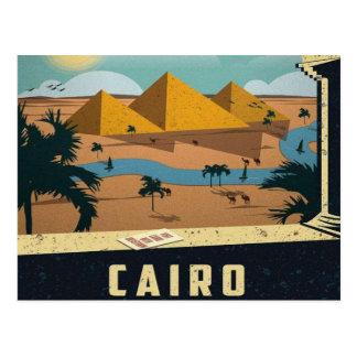 Carte Postale cru de voyage de pyramides du Caire Egypte antique