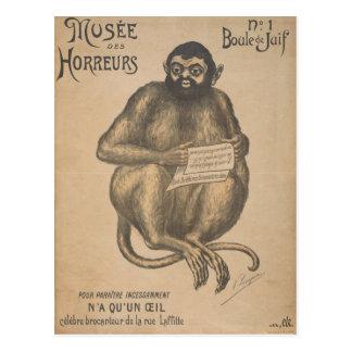 Carte Postale Cru d'homme de rongeur de DES Horreurs de Musee