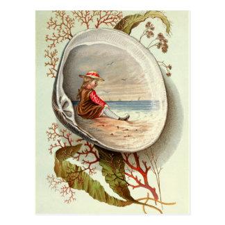 Carte Postale Cru-Palourde-SHELL-Scène