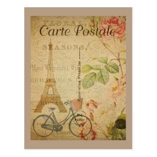 Carte Postale Cru parisien avec Tour Eiffel