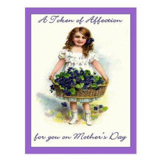 Carte Postale Cru pour vous le jour de mère, marque d'affection