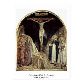 Carte Postale Crucifixion avec St Dominic par ATF Angelico