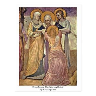 Carte Postale Crucifixion : Le détail de Marien par ATF Angelico