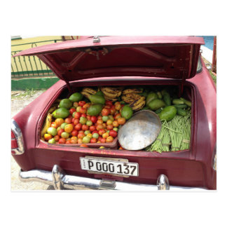 Carte Postale Cuban étable de fruit car