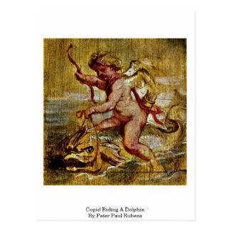 Carte Postale Cupidon montant un dauphin par Peter Paul Rubens