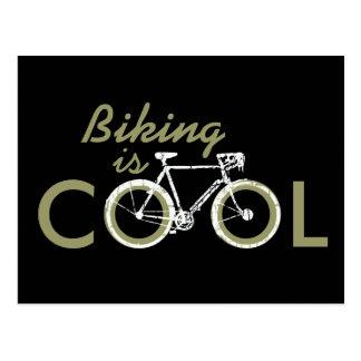 Carte Postale cycle frais, faisant du vélo
