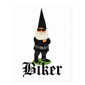 Carte Postale Cycliste de gnome
