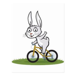 Carte Postale Cycliste de lapin