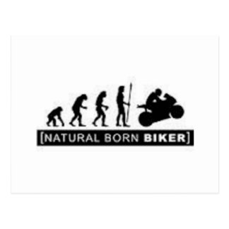 Carte Postale Cycliste de naissance
