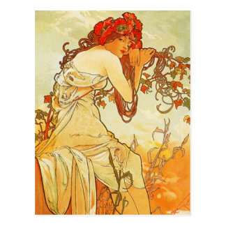 Carte postale d été d Alphonse Mucha