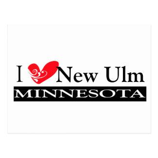 Carte Postale Dactylographiez votre ville du Minnesota