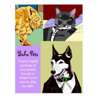 Carte postale d'affaires d'animal familier