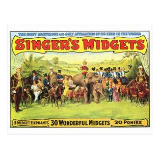 Carte postale d'affiche de cirque