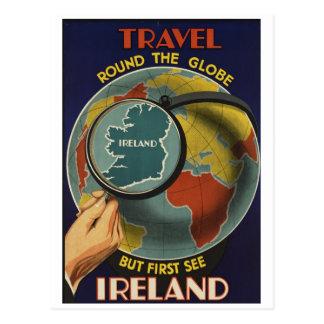 Carte postale d'affiche de voyage de l'Irlande