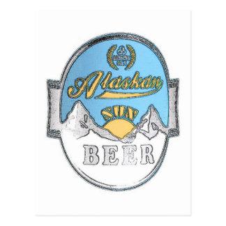 carte postale d'Alaska de bière du soleil