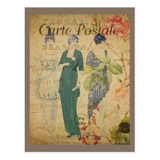 Carte Postale Dames vintages parisiennes