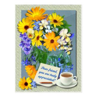 Carte postale d'amitié de ~ de PETIT BOUQUET de