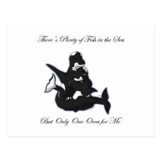 Carte postale d'amour d'orque